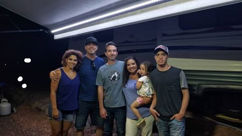 picture of the webster family with the almaguer family