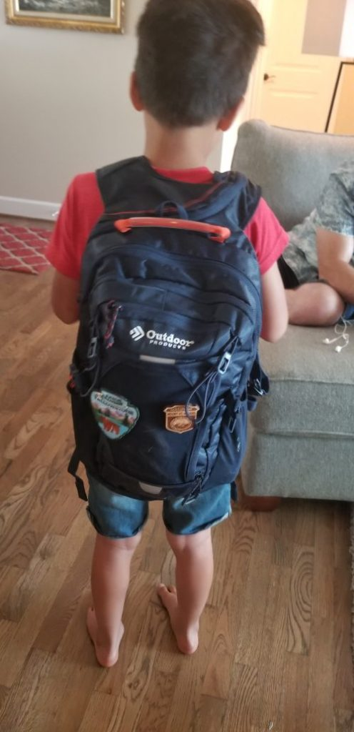 picture of boy with backpack on